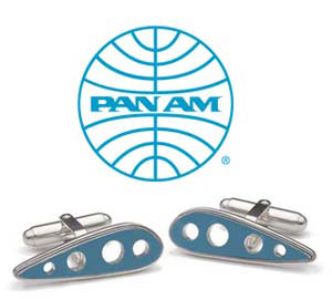 Tokens and Icons Pan Am 707 Wing Cufflinks