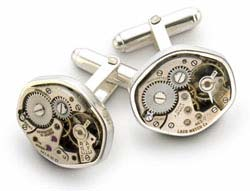 Tokens and Icons Watch Movement Cufflinks