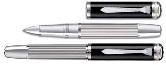 Pelikan Majesty R7005 Black and Silver Rollerball Pen