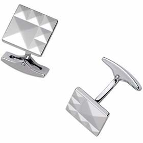 Dupont 6 Diamond Head Faceted Square Cufflinks