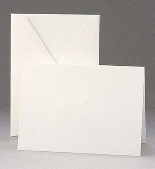 Crane White Notes and Envelopes