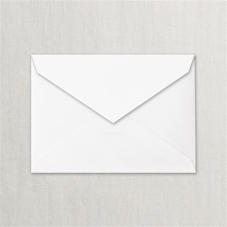 Crane Pearl White Corrine Envelope