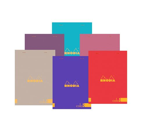 Rhodia R Colored Lined 3 3/8 x 4 3/4 Pads