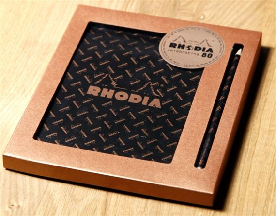 Rhodia 80th Anniverary 6 x 8 Graph Pad and Pencil Set