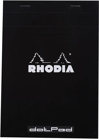 Rhodia 6 x 8 1/4 Dot Pad - Black