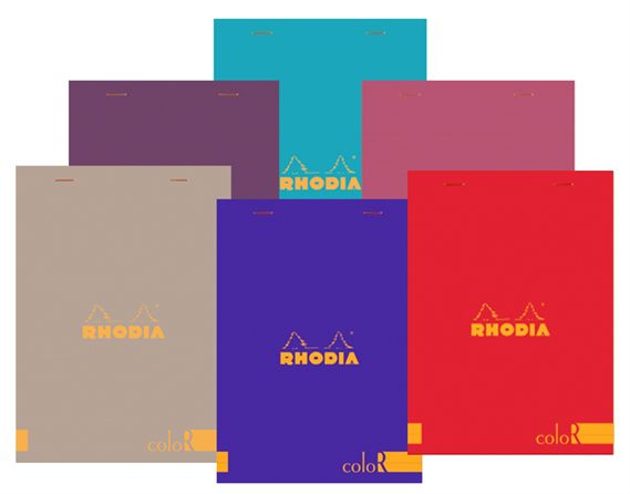 Rhodia R Colored Lined 6 x 8 1/4 Pads