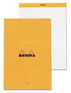 Rhodia 8 1/4 X 11 3/4 Lined With Margin