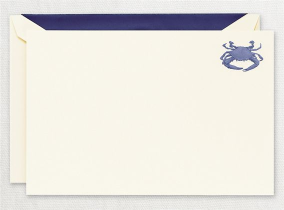 Crane Engraved Blue Crab Notes 15/15