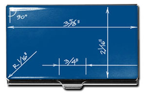 ACME Boym Designed Blueprint Card Case