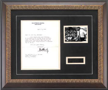 Robert Kennedy Framed Document