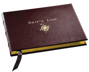 Graphic Image Ship's Log Book