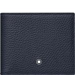 Montblanc Leather Wallet 6CC Blue