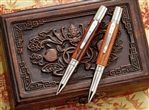 Fahrney's Exclusive Pipers Huanghuali Dark Chinese Wood Ballpoint Pen
