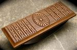Fahrney's Exclusive Victorian Embossed Walnut Wood Rocker Blotter
