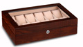 Brazilian Rosewood 12 Slot Watch Case