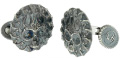 William Henry Sterling Silver Skull Cufflinks