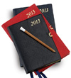 Charing Cross 2017 Leather 3x5 Planner With Pencil and Clasp