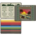 Faber-Castell 111th Anniversary Tin 3/4 Length Color Pencils 12 Set