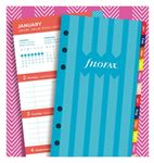 Filofax Personal Illustrated Stripes Refill Week to View 2020