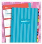 Filofax A5 Illustrated Stripes Refill Week to View 2020