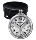 Montblanc Palladium Plated Travel Desk Clock