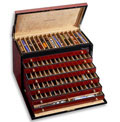 Venlo Burlwood 100 Slot Pen Trunk