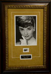 Audrey Hepburn Framed Document