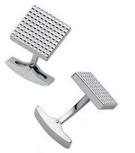 DuPont Diamond Head Square Palladium Cufflinks