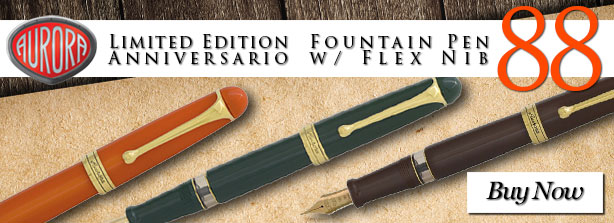 Aurora Limited Edition 88 Anniversario Fountain Pen w/ Flex Nib