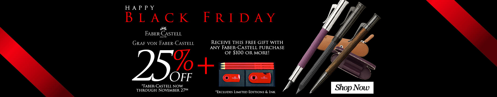 Black Friday - 25% Off Select Faber-Castell