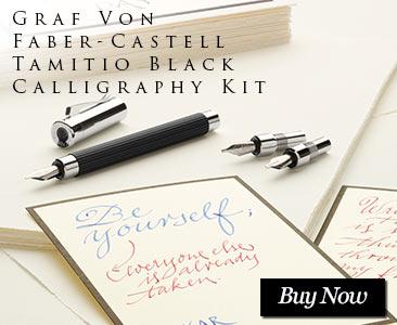 Graf Von Faber-Castell Tamitio Black Calligraphy Kit
