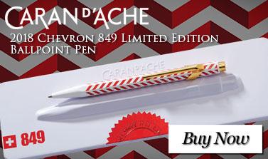 Caran D'ache 2018 Chevron 849 Limited Edition Ballpoint Pen