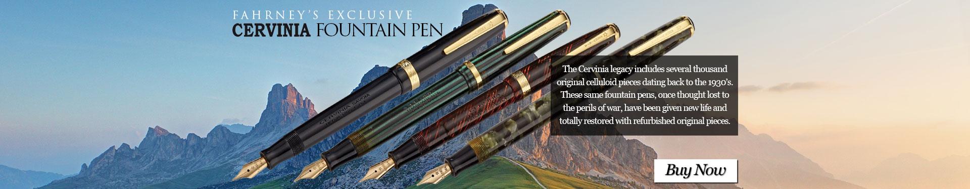 Fahrney's Exclusive Cervinia Fountain Pens