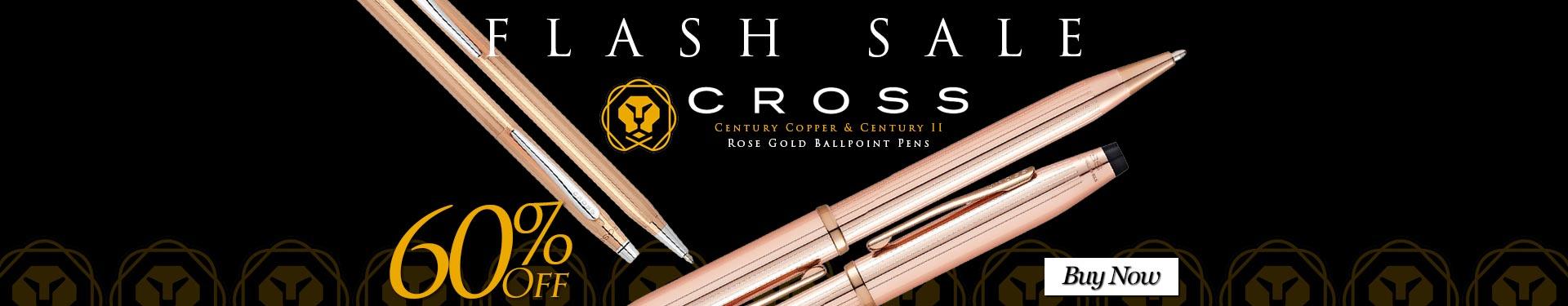 Save 60% on Cross Century Copper & Century II Rose Gold Ballpoint Pens