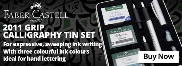 Faber-Castell 2011 Grip Calligraphy Tin Set