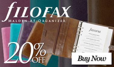 Filofax Malden A5 Organizer - 20% Off