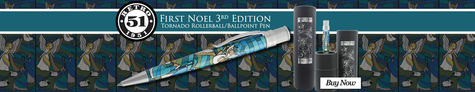 Retro 51 First Noel 3rd Edition 2018 Tornado Rollerball/Ballpoint Pen