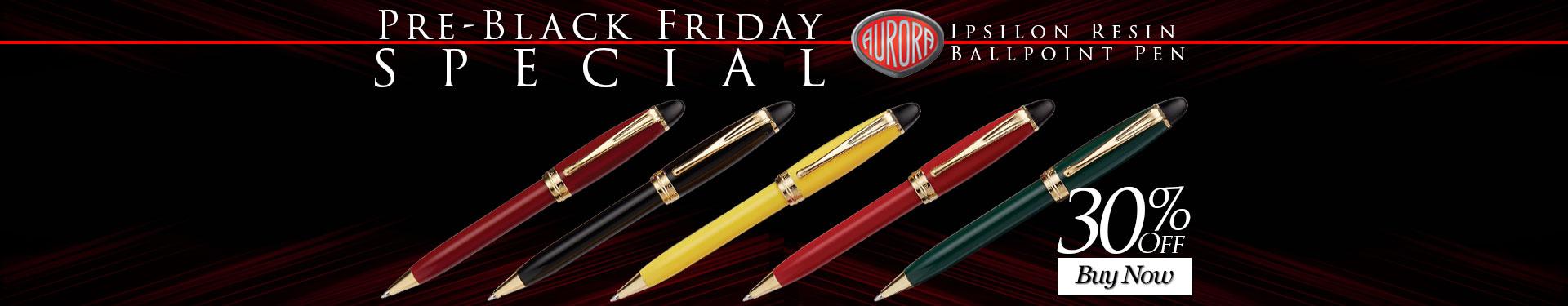 Pre-Black Friday Special - 30% Off Aurora Ipsilon Resin Ballpoint Pen