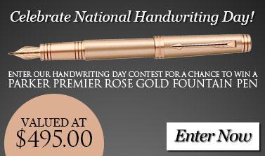 Handwriting Day Contest