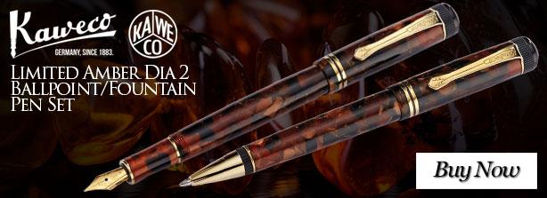 Kaweco Limited Amber Dia 2 Ballpoint/Fountain Pen Set