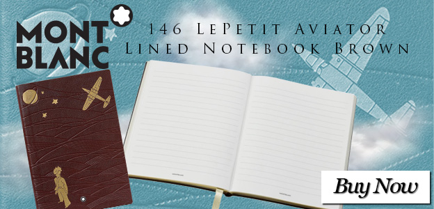 Montblanc 146 LePetit Aviator Lined Notebook Brown