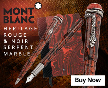 Montblanc Heritage Rouge and Noir Serpent Marble