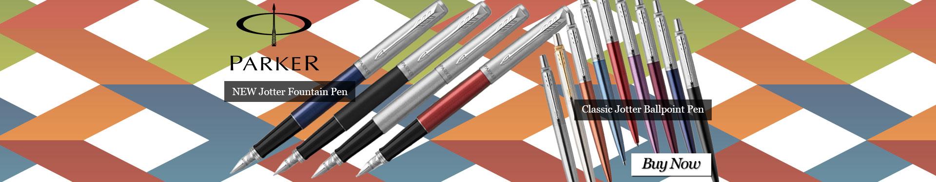 New Parker Jotter Fountain Pen and Parker Classic Jotter Ballpoint Pen