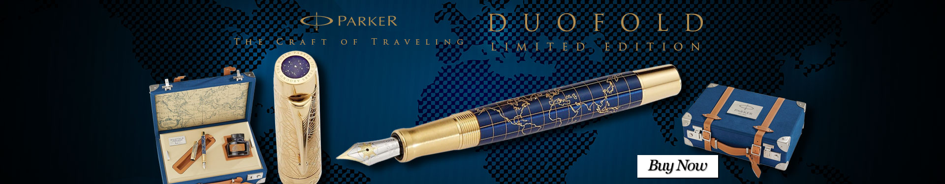 Parker 2018 Duofold Craft of Traveling Fountain Pen