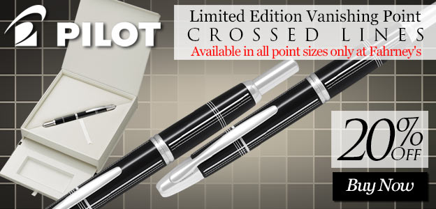 Pilot Limited Edition Vanishing Point Crossed Lines Fountain Pen