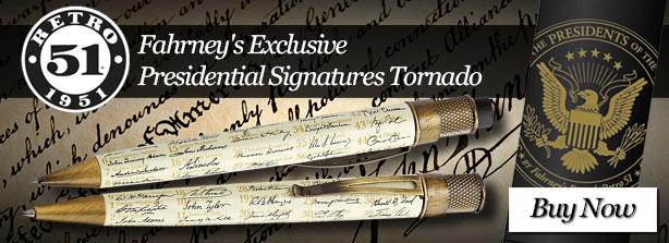 Fahrney's Exclusive Retro 51 Presidential Signatures