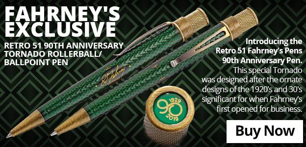 Fahrney's Exclusive Retro 51 90th Anniversary Tornado Rollerball/Ballpoint Pen