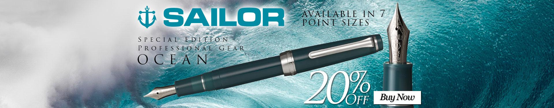Sailor Special Edition Professional Gear Slim Ocean 20% Off