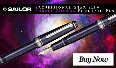 Sailor Professional Gear Slim Purple Cosmos Fountain Pen