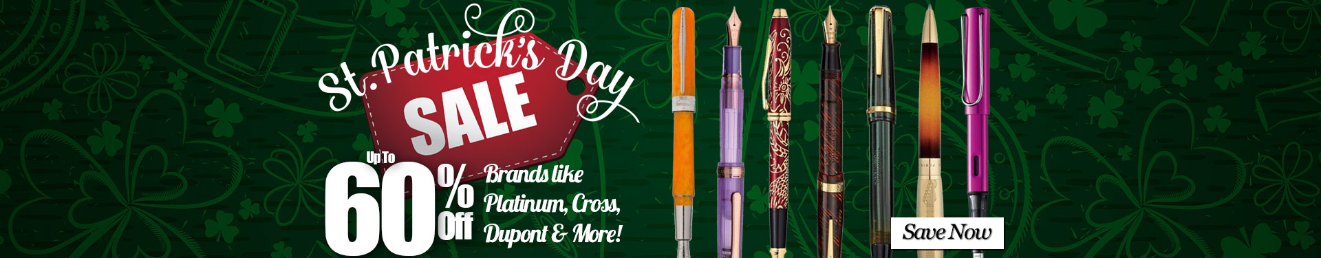 St. Patrick's Day Sale - Up to 60% Off